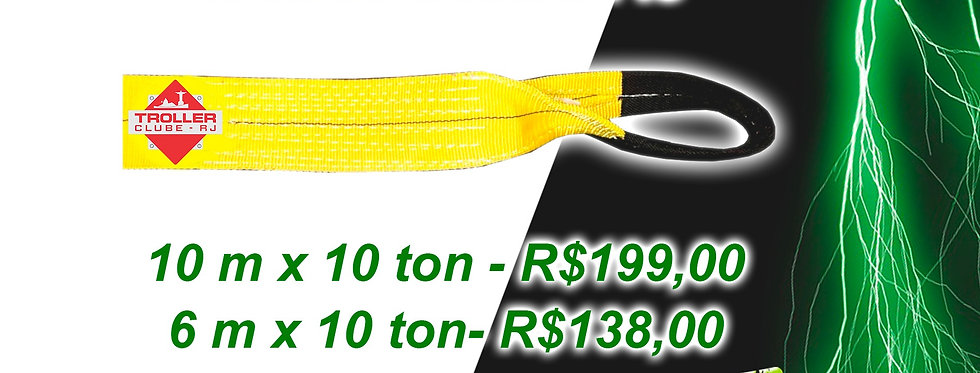 Cinta Reboque 4x4 - Personalizada Troller Clube RJ - 10m x 10ton