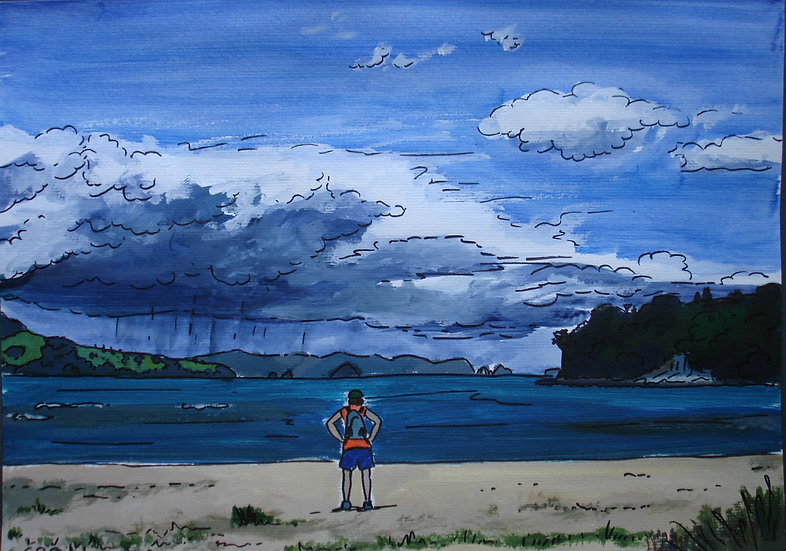 Storm Coming, Buffalo Beach (2012) - with no mat board or frame