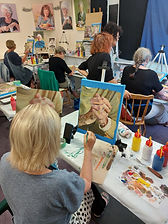 Painting Hands with acrylic - workshop with Charlotte in New Plymouth