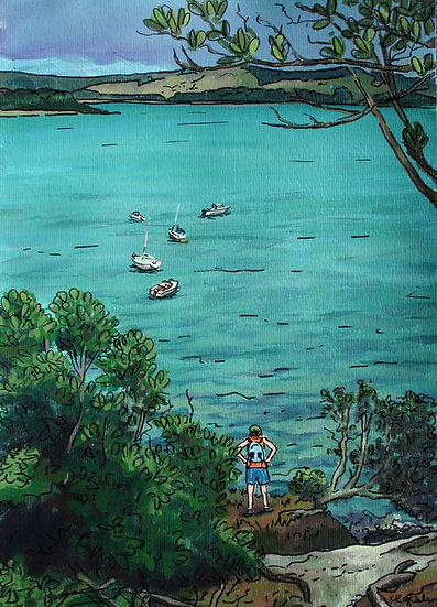 Looking down on Flaxmill Bay | SOLD