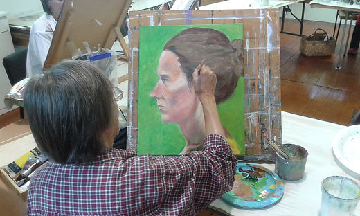 figure painting workshop with Charlotte Giblin