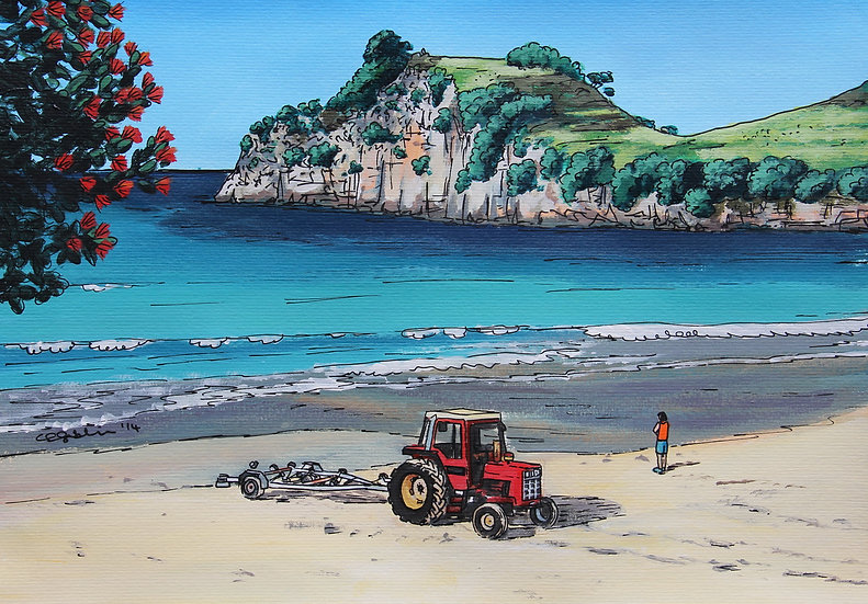 Tractor on Hahei Beach | SOLD