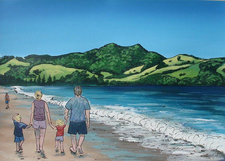Simpson's Beach (commission) | SOLD