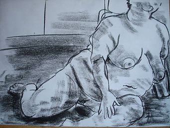 Charcoal life drawing Charlotte Giblin sample