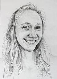 Pencil drawing portrait workshop Charlotte Giblin sample