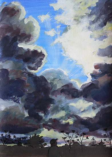 Waikato Clouds (2012) - with no mat board or frame