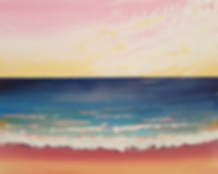 sunrise sea with palette knife by Charlotte