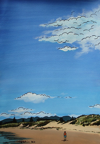 Big Sky (2012) - with no mat board or frame