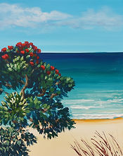 Coromandel Colours acrylic painting workshop Charlotte Giblin sample