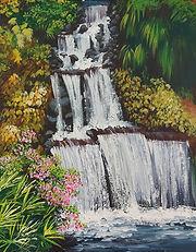 Pukekura Park waterfall workshop Charlotte Giblin sample