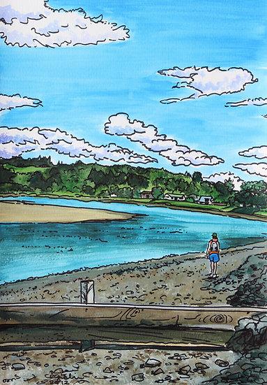 Whangamata Estuary (2012) - with no mat board or frame