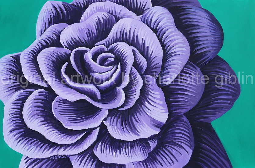 There's nothing fragile about THIS rose (purple) | SOLD
