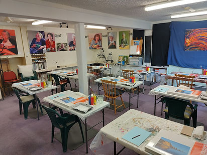 Charlotte Giblin art studio 2020