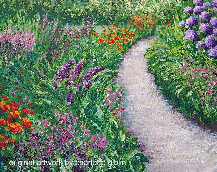 Colourful Garden Path (2020) | SOLD