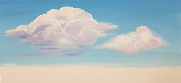 cloud sample done with brush by Charlotte