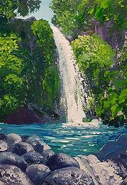 Waterfall Rockpool workshop sample by Charlotte Giblin