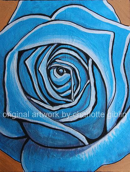Metallic rose (blue)