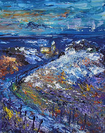 Pathways and palette knives - art workshop sample