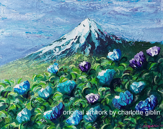 The Mountain in Blues (2021)   SOLD