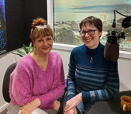 Ingrid van Amsterdam and Charlotte Giblin at Access Radio Taranaki
