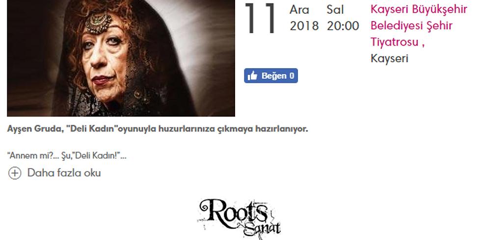 """Ayşen Gruda, """"Deli Kadın"""""""