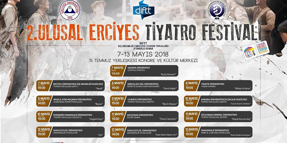 2 ULUSAL ERCİYES ÜNİVERSİTESİ TİYATRO FESTİVALİ 7-13 MAYIS