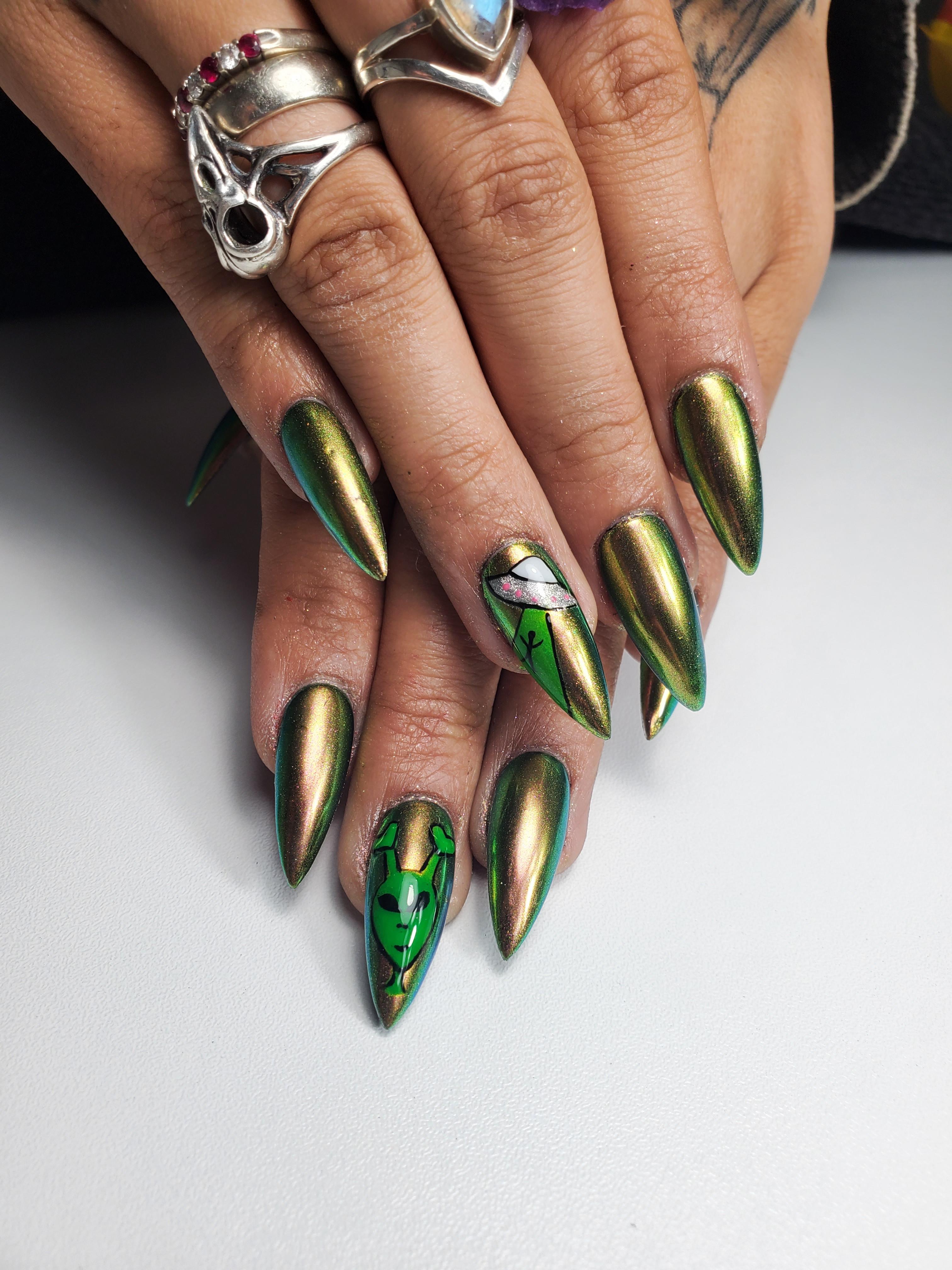 Gel-X w/Simple Nail Art