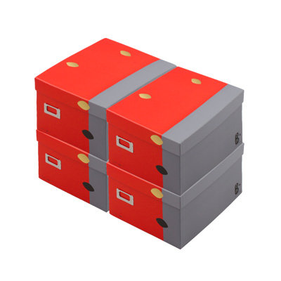 """Gris Limite"" Boxes with lid x 4"