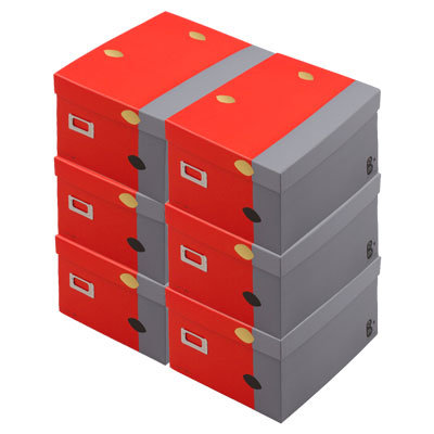 """Gris Limite"" Boxes with lid x 6"