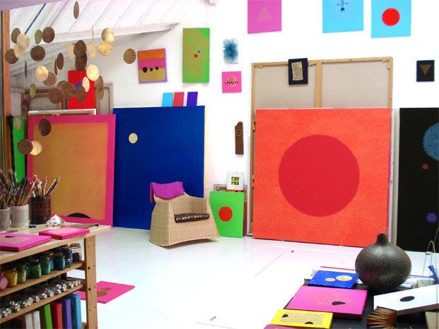 Atelier de l'artiste contemporain Del Aor