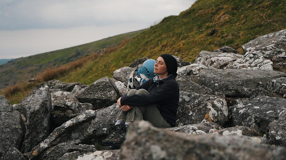 Sitting upon the hillside