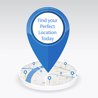 Location Pin with Find your Perfect Loca