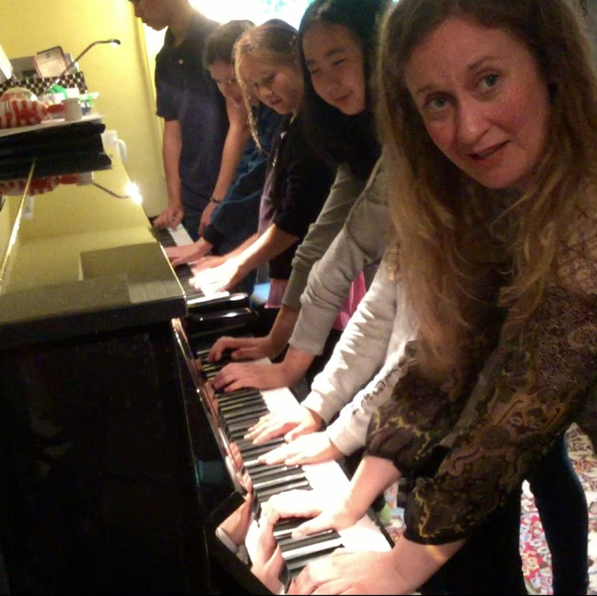 All hands on piano