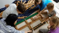 Building a grand piano keyboard