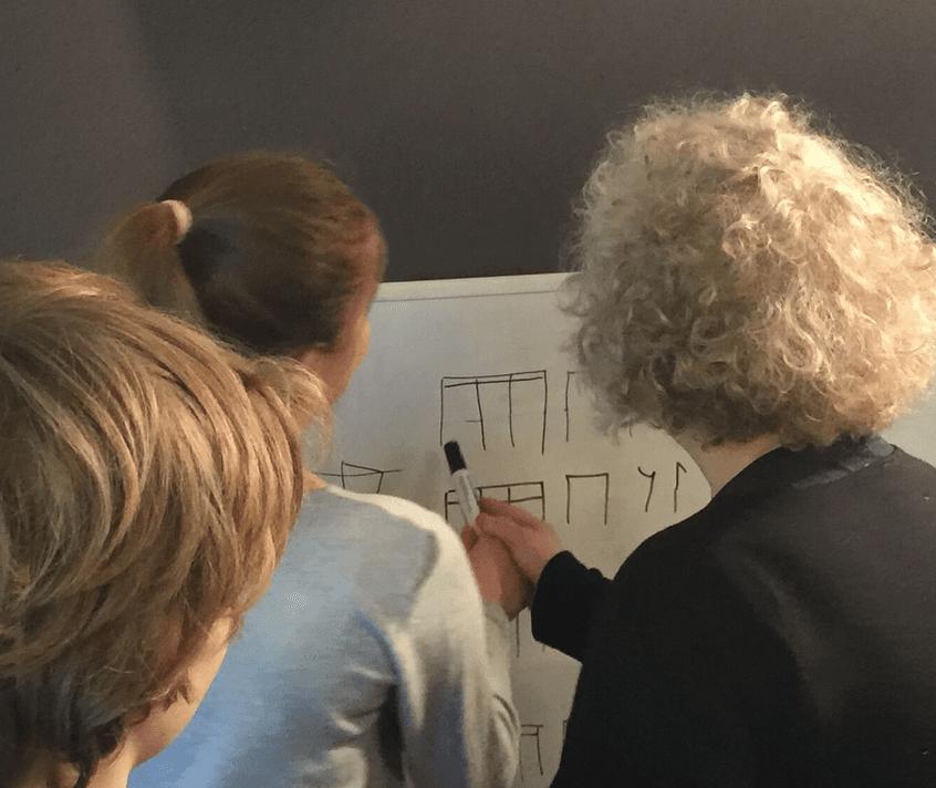 Group lesson with Caroline Fraser