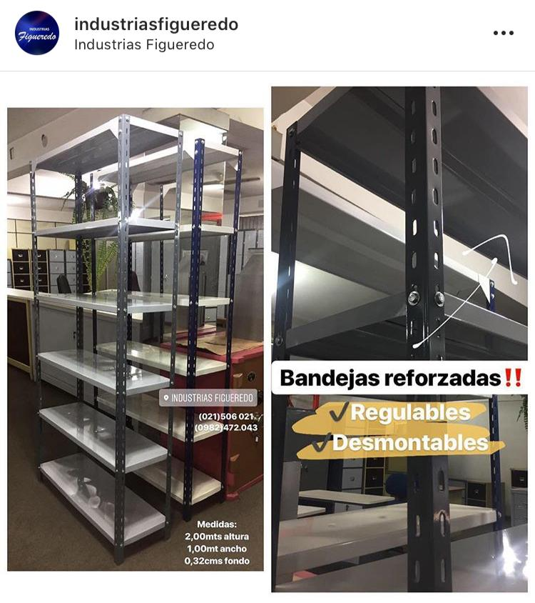 ESTANTES METÁLICOS DISPONIBLES