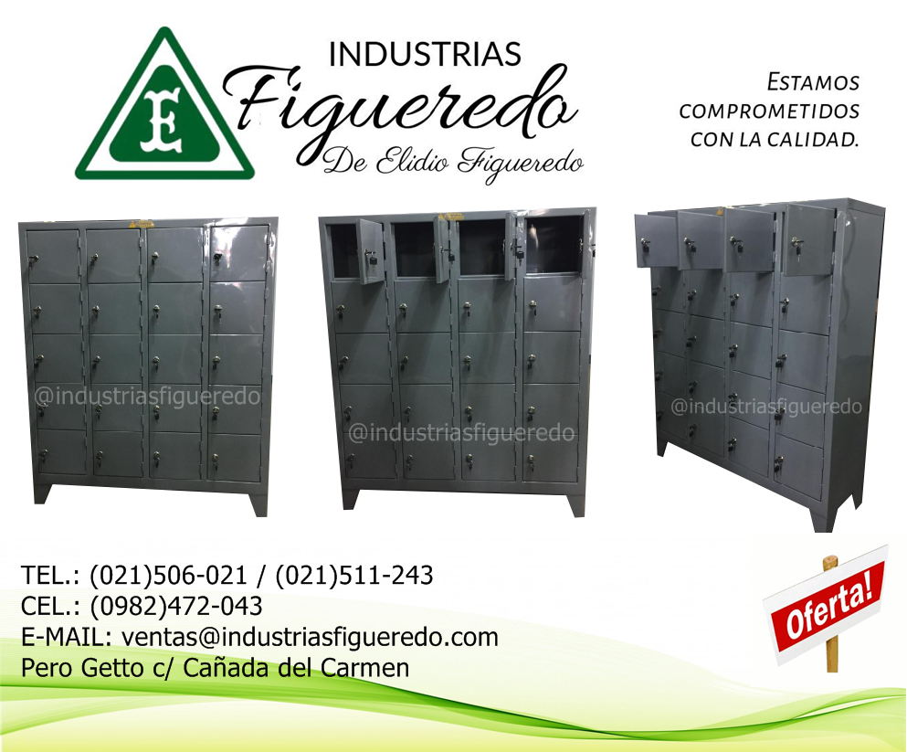 lockers para celulares y billeteras