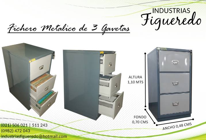 FICHERO 3 GAVETAS