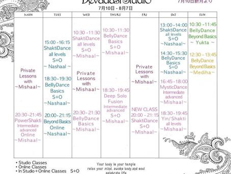 Session 7 デバダシスタジオ神宮前 スケジュール