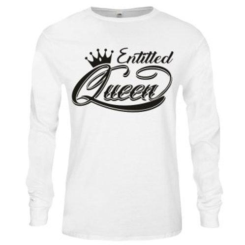 Long Sleeve Entitled Queens shirt