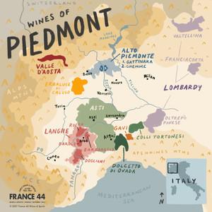 Wines of Piedmont Map