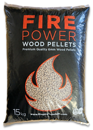 Fire power wood pellets