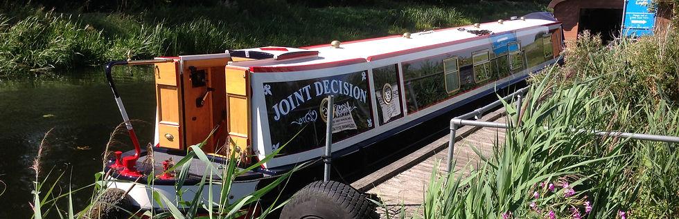 Narrowboat Painting