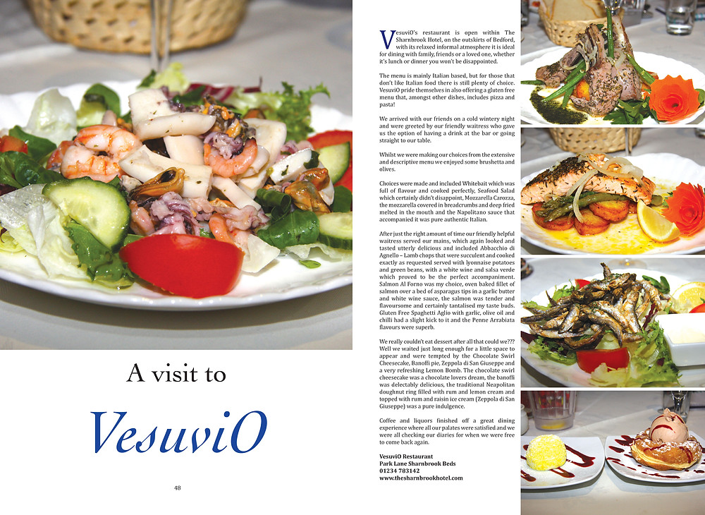 Affinity Magazine review of VesuviO Restaurant