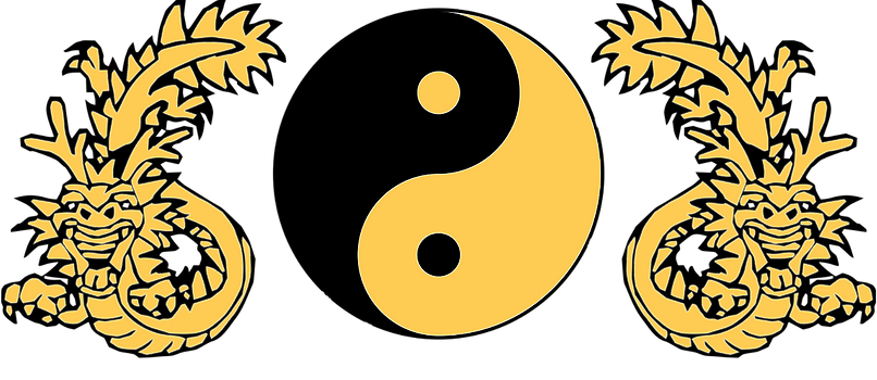 Zen Kenpo Dragon Yin Yang logo
