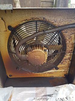 Kitchen extraction fan befoe