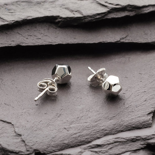 DODECAHEDRON DEMI STUD EARRINGS