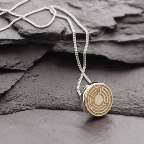 THREE TIER LABYRINTH NECKLACE - Discontinued design