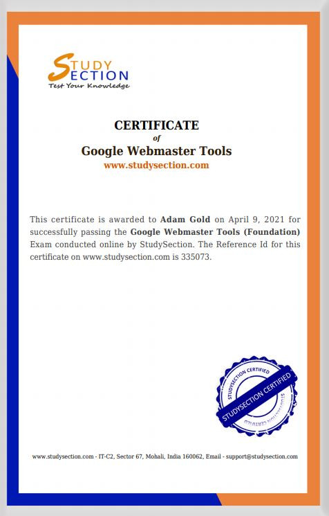 Google Webmaster Tools Qualified
