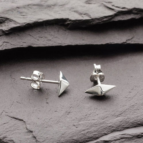 OCTAHEDRON DEMI STUD EARRINGS